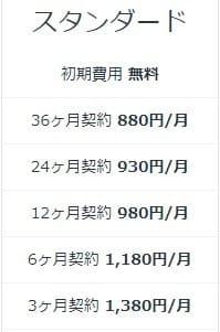mixhostスタンダードプランの価格